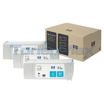 HP NO 81 DYE INK CARTRIDGE CYAN